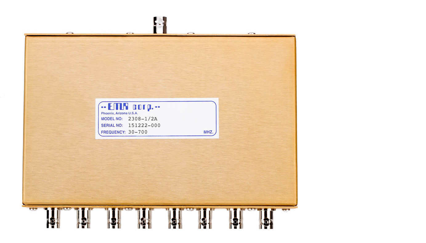 Power Dividers, Receiver 30-700 MHz Model 2308-1/2A