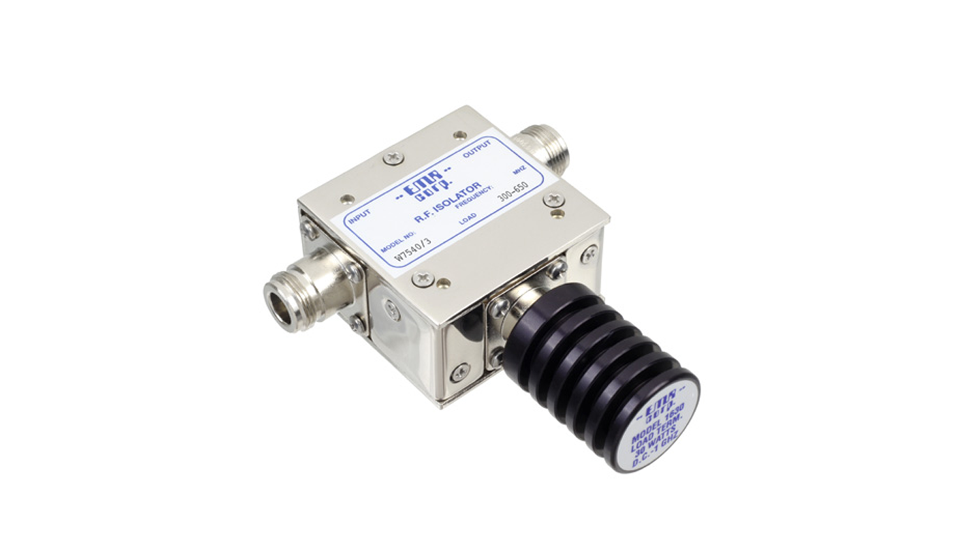 Isolator 300-400 MHz AEW7540/3 Input Power 50 W