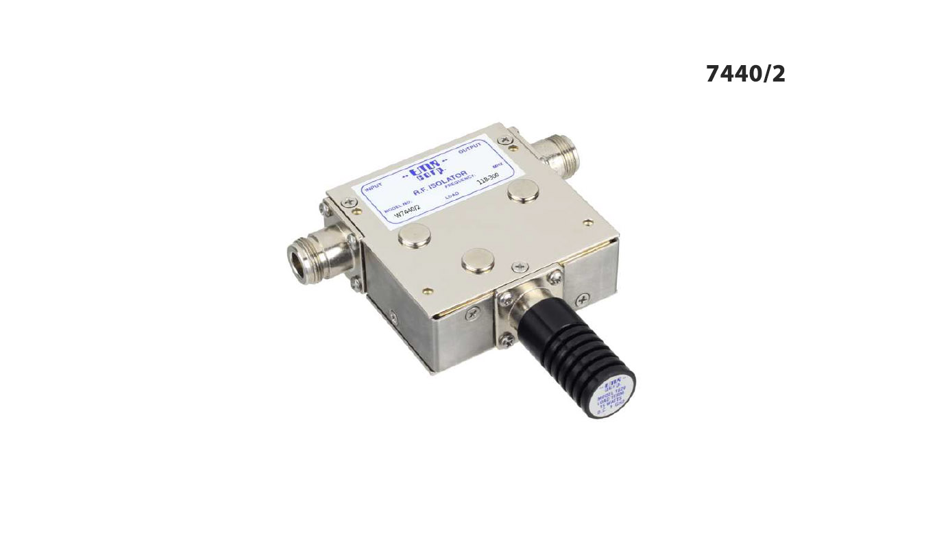 Isolator 146-226 MHz W7440/2 Input Power 25 W