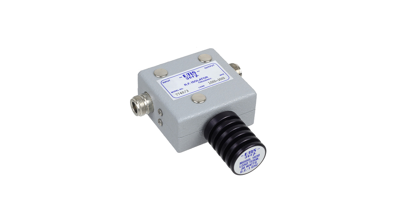 Isolator 1000-1300 MHz 7740/3 Input Power 60 W