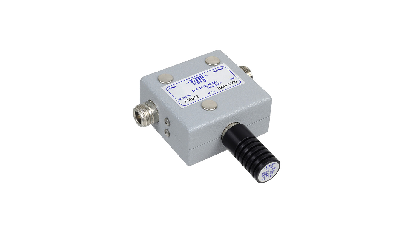 Isolator 1000-1300 MHz 7740/2 Input Power 30 W