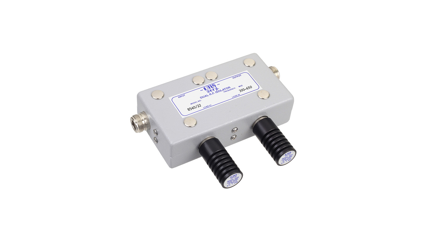Isolator 300-650 MHz 8540/22 Input Power 25 W