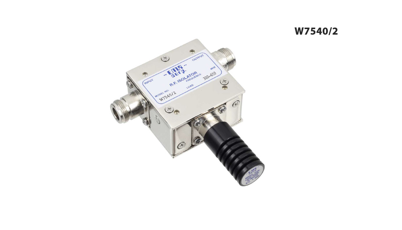 Isolator Broadcast 300-650 MHz WFM7540/2 Input Power 30 W