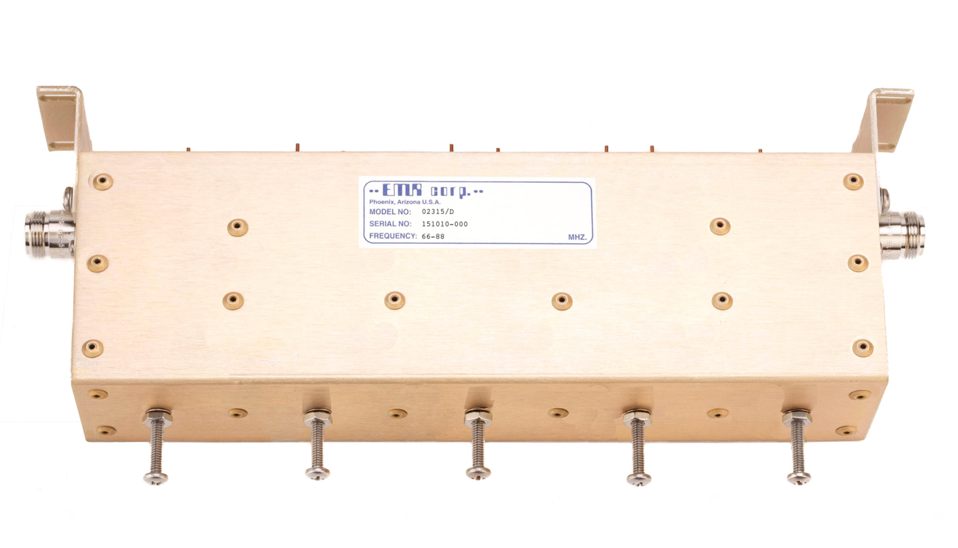 Receive Preselector - Band Pass 66-88 MHz Model 02315/D