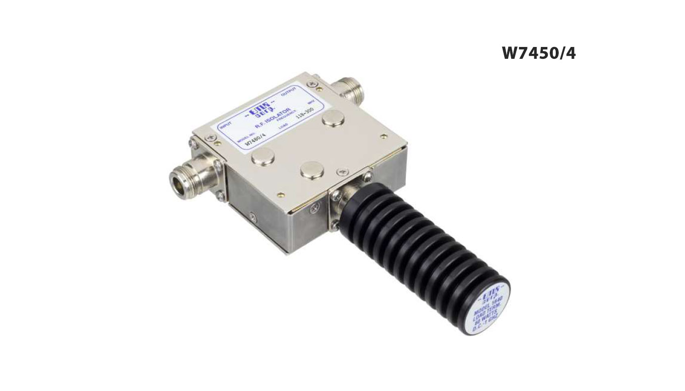 Isolator 146-226 MHz W7450/4 Input Power 125 W