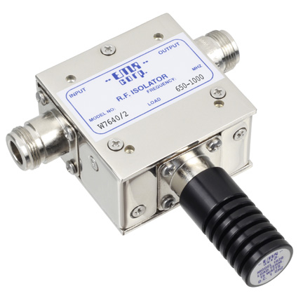 Isolator 650-1000 MHz W7640/2 Input Power 25