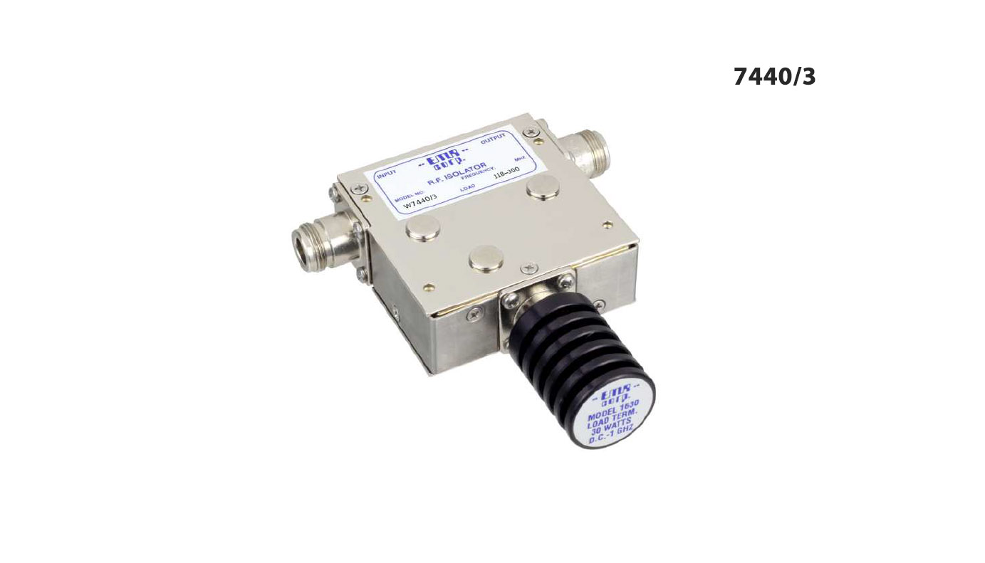 Isolator 146-226 MHz W7440/3 Input Power 50 W