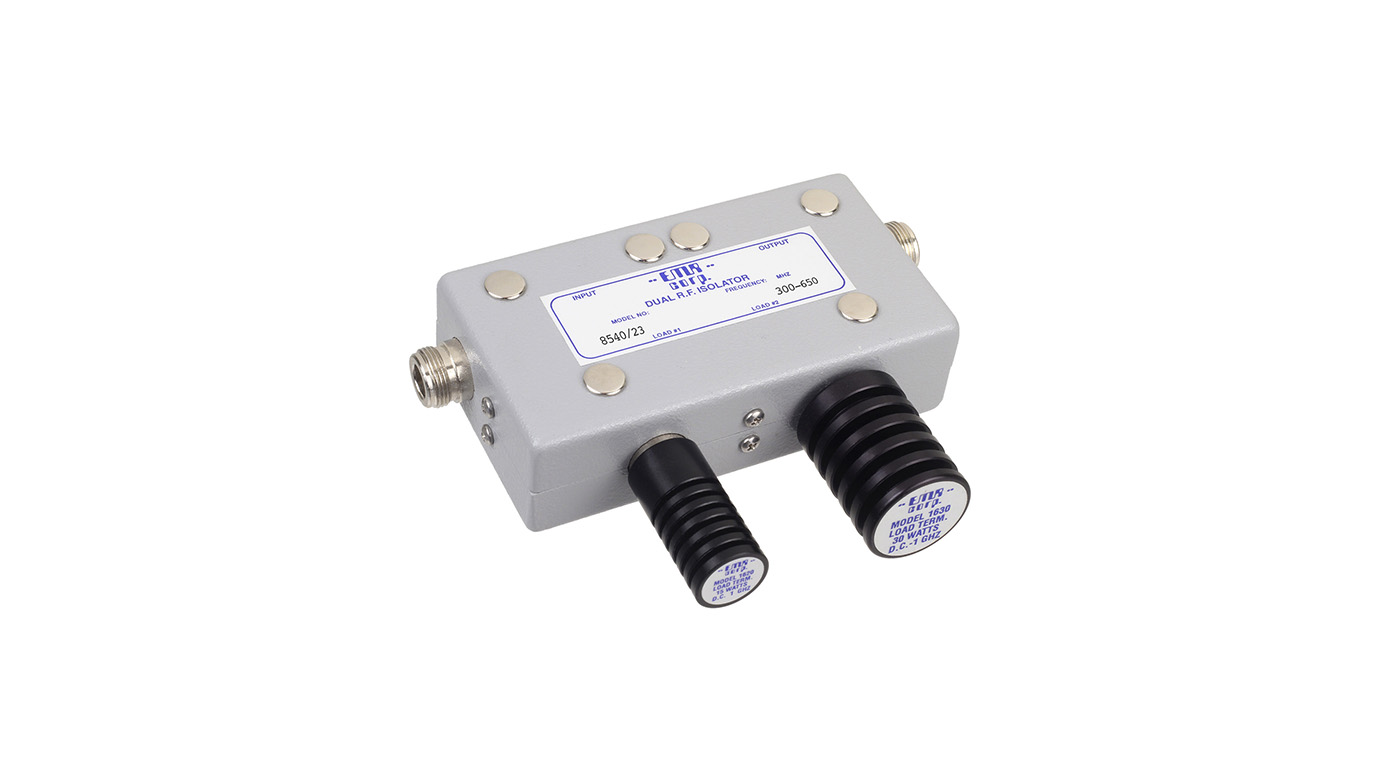 Isolator 300-650 MHz 8540/23 Input Power 50 W