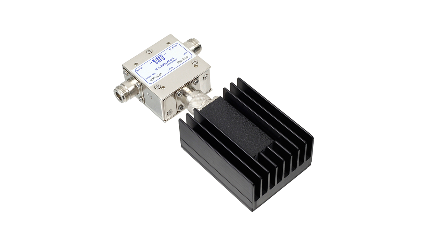 Isolator 650-1000 MHz W7650/4A Input Power 125 W