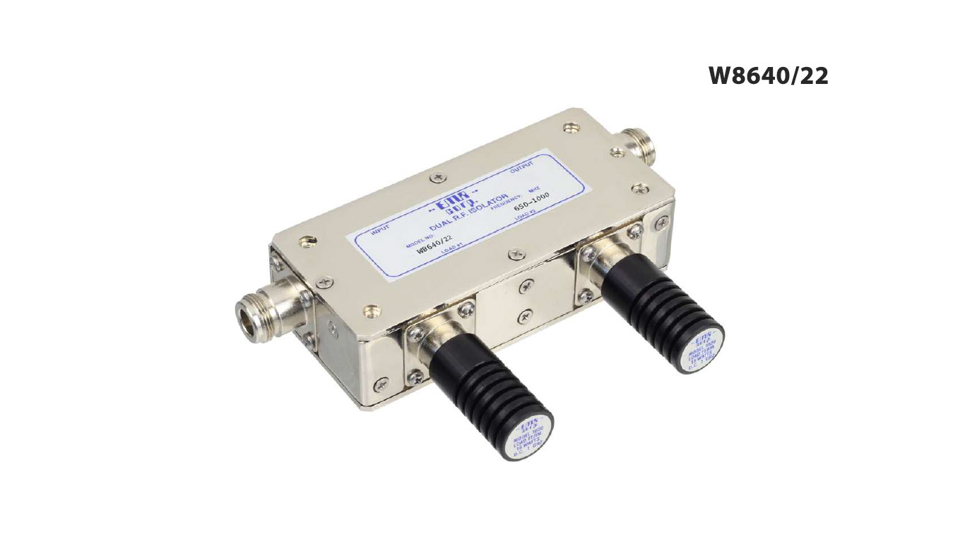 Isolator Broadcast 944-960 MHz WFM8640/22 Input Power 30 W