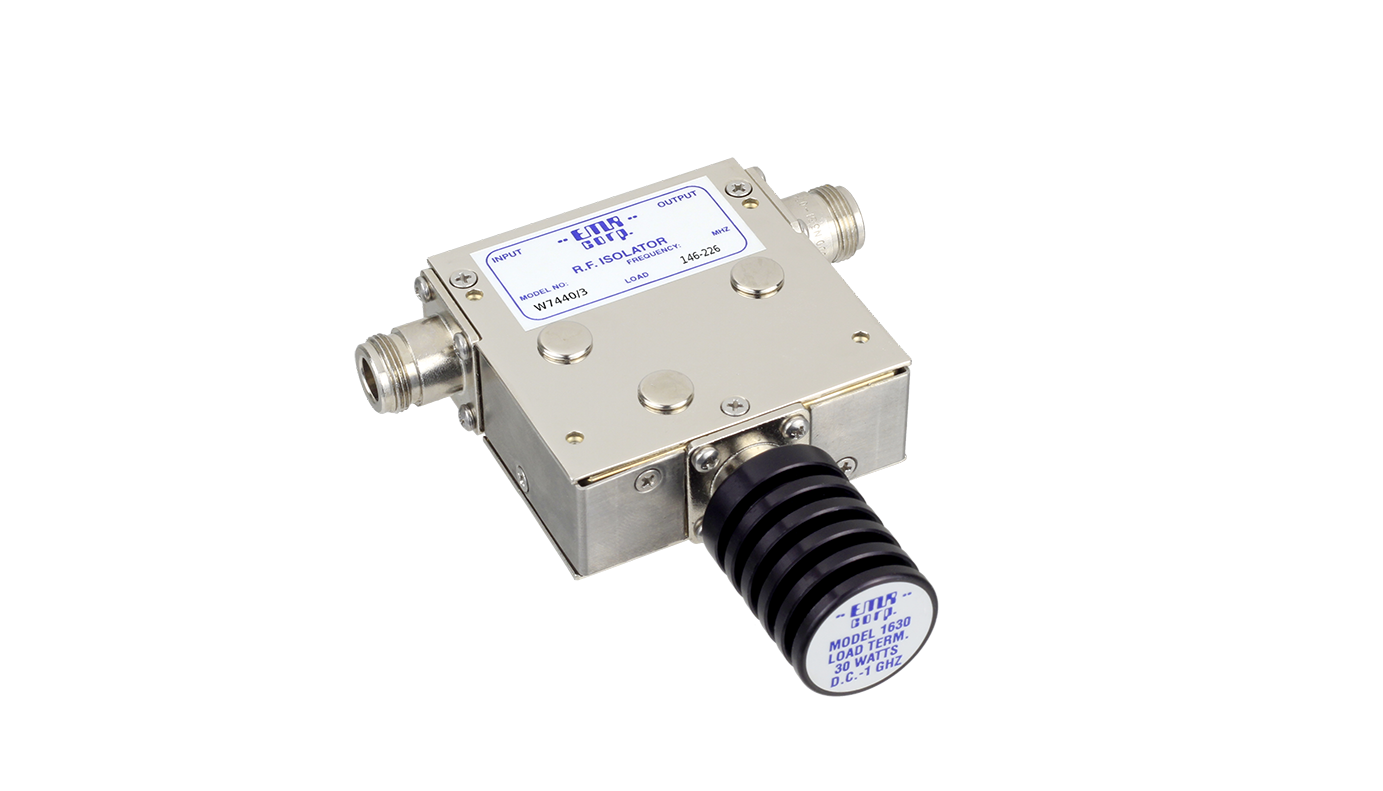 Isolator 118-136 MHz AEW7440/3A Input Power 50 W